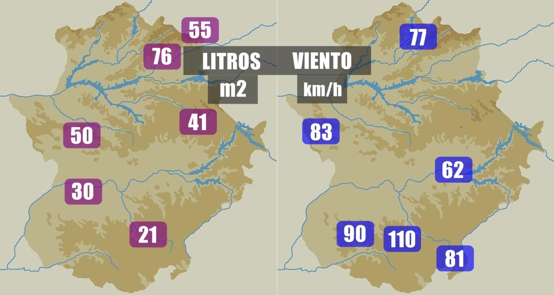 Notables acumulados durante este viernes en Extremadura