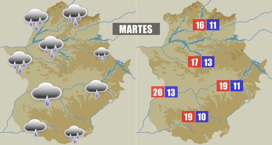 Este martes volverá a llover en la región