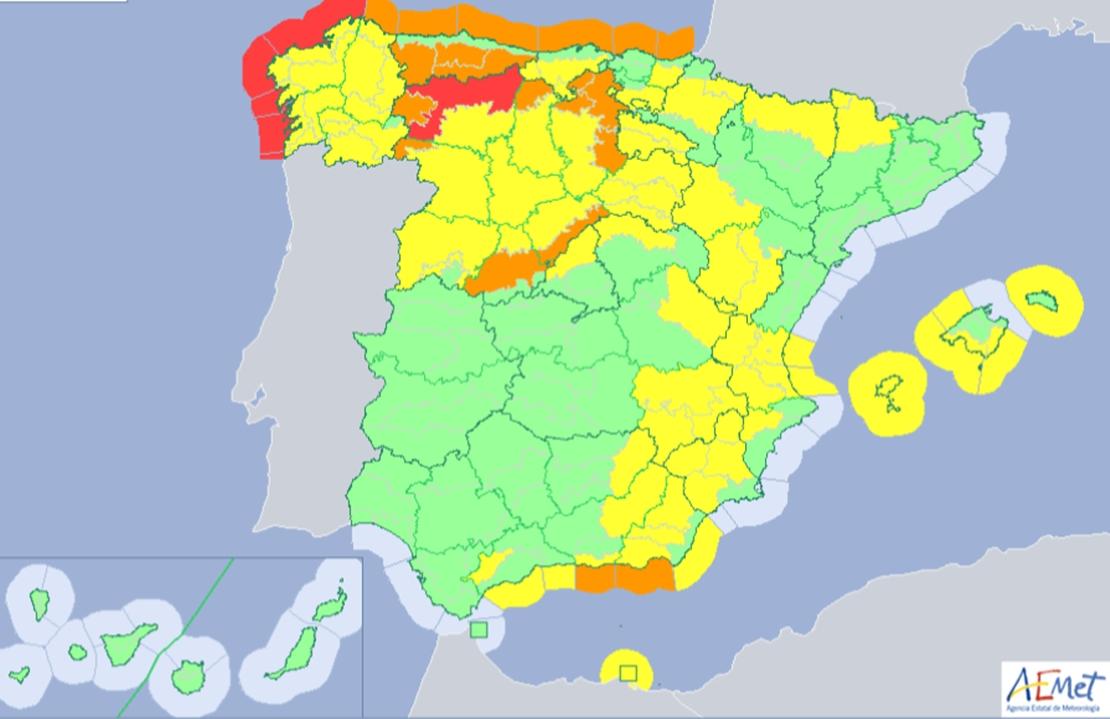 Se avecina una borrasca 'invernal' a la Península