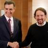 Sánchez e Iglesias alcanzan un acuerdo para formar un Gobierno de coalición