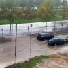 La lluvia provoca problemas en el tráfico en Badajoz