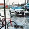 Grandes balsas de agua y problemas en el tráfico en Badajoz