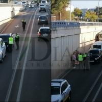 Aparatoso accidente en la avenida Reina Sofía de Mérida