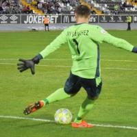 Javi Sánchez detiene un penalti de cada tres vistiendo la camiseta del Mérida