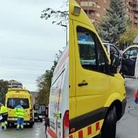Tres heridos, entre ellos una menor, en un accidente de tráfico en Cáceres