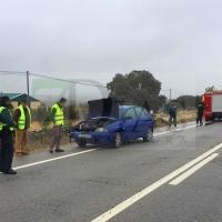 Accidente de tráfico en Herrera del Duque (Badajoz)