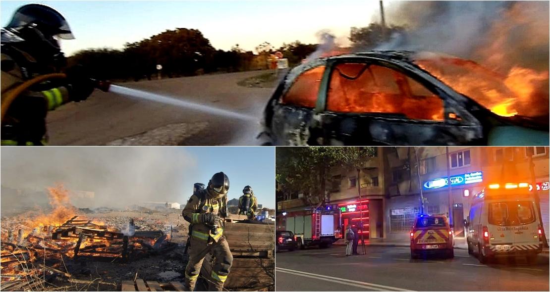 Tres incendios en varios puntos de Badajoz en escasas horas