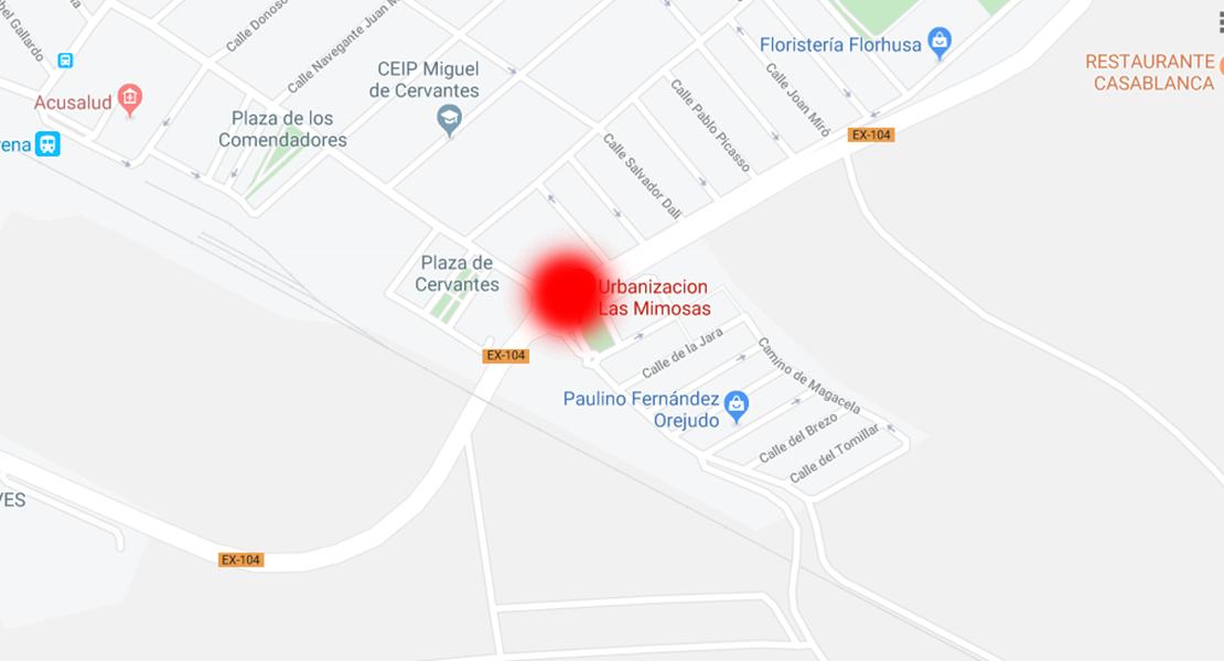 Hospitalizado un ciclista tras sufrir un accidente en Villanueva