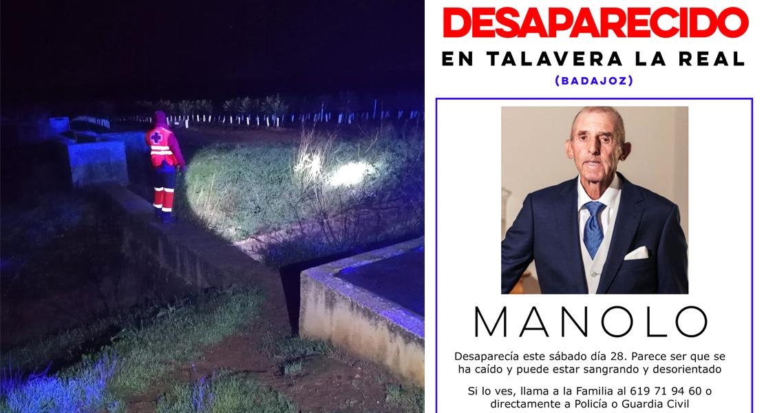 Intensa búsqueda para localizar a un vecino desaparecido en Talavera la Real (Badajoz)