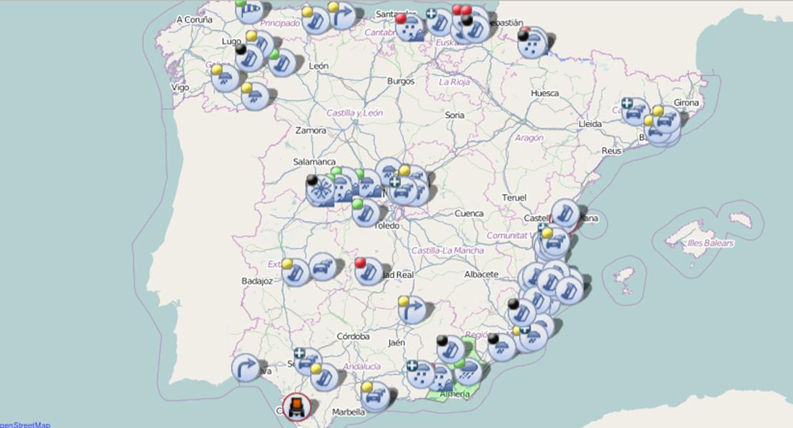 La DGT mantiene activas dos alertas en las carreteras extremeñas