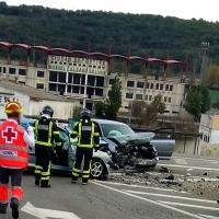 Cinco heridos en un accidente en Jerez de los Caballeros