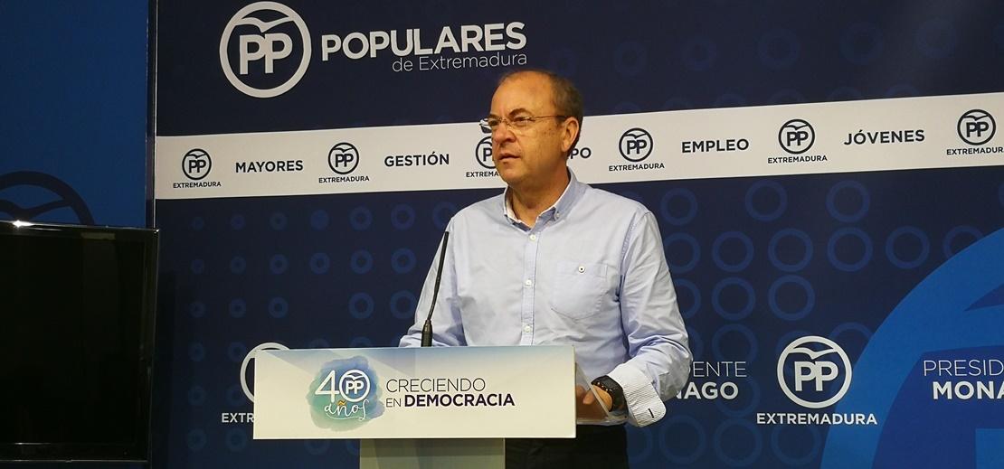 Monago lamenta la nula presencia de extremeños en el Gobierno de Sánchez
