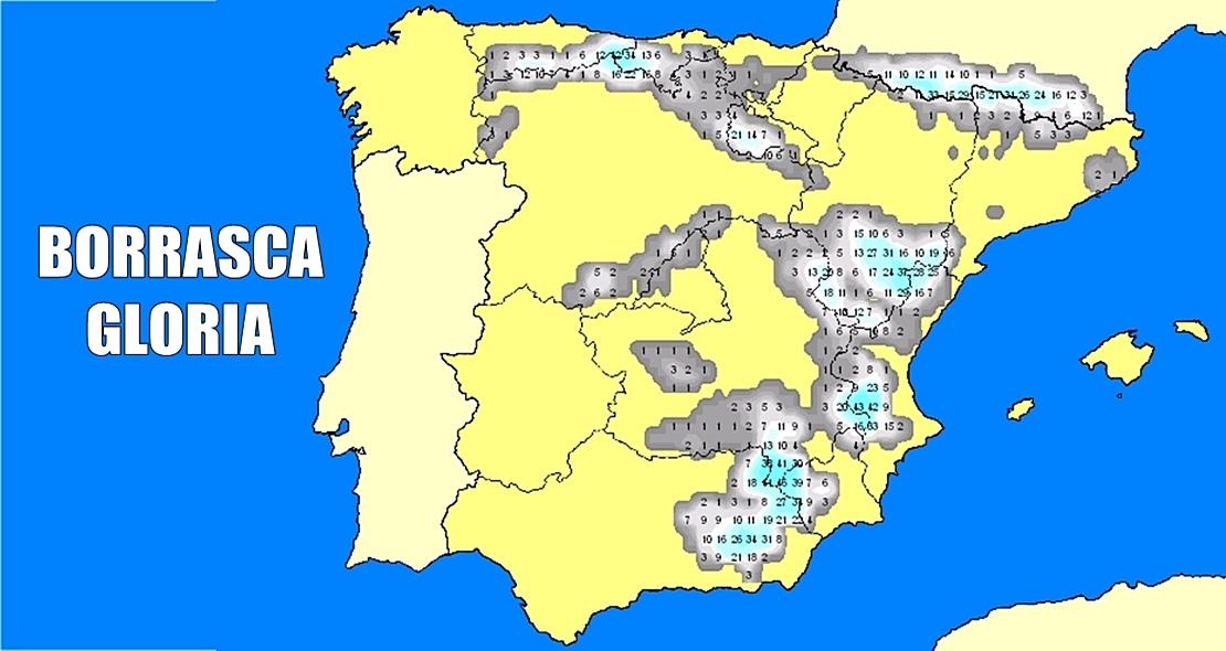 Aviso especial AEMET: Primer temporal invernal llamado 'Gloria'