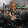 Momentos de tensión entre agricultores y antidisturbios en Agroexpo