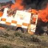 El técnico de Ambulancias Tenorio tuvo que ser atendido por quemaduras leves