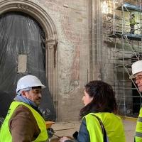 Continúan las obras de rehabilitación de la catedral de Coria