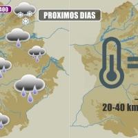 Gloria se desplazará al Golfo de Cádiz enviando lluvias a Extremadura