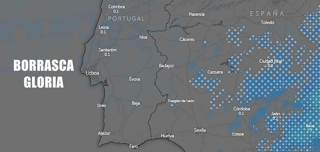La Borrasca Gloria también podría dejar algunas nevadas en Extremadura