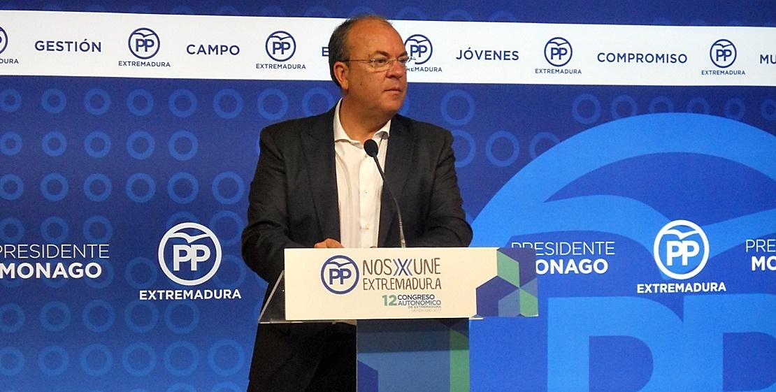 """Monago critica el """"desprecio"""" de Sánchez """"ninguneando"""" a los agricultores y ganaderos extremeños"""