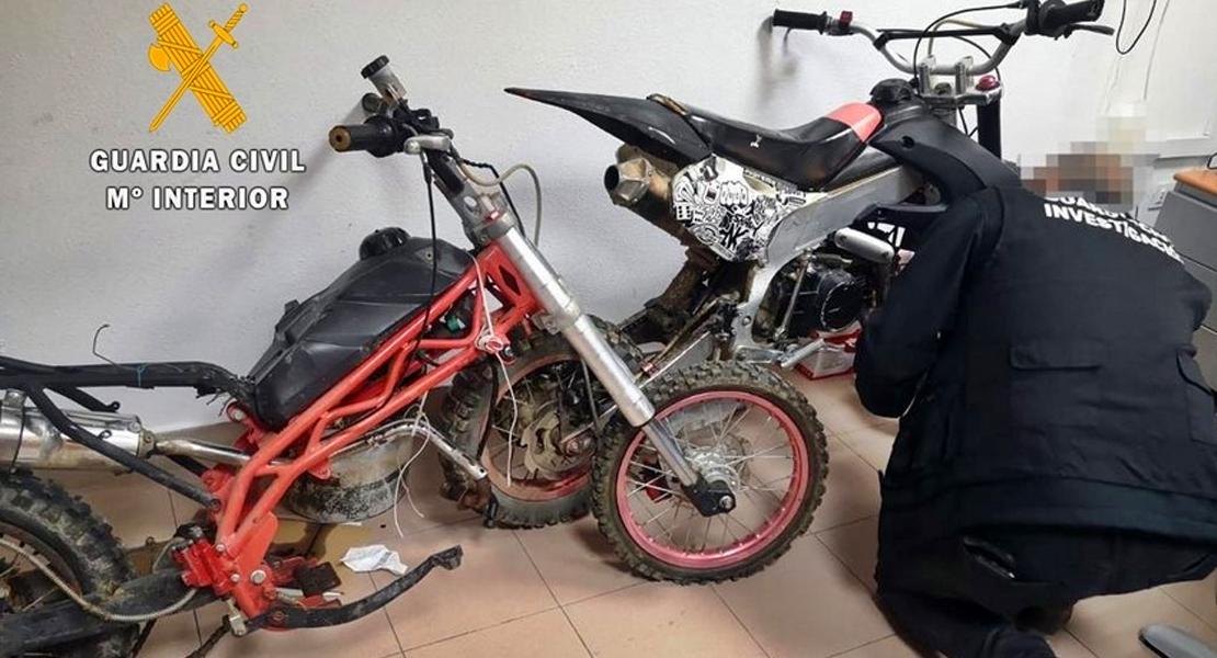 Detenido en Gévora por robar motocicletas, despiezarlas e intentar venderlas por Internet