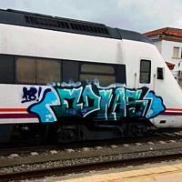 Detienen a un joven por realizar grafitis en varias estaciones de tren extremeñas