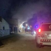 Grave incendio de vivienda en las casas aisladas de Valdebótoa