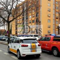 Incendio de vivienda en avenida de Colón (Badajoz)