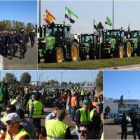 Impiden que los tractores lleguen a la Frontera de Caya