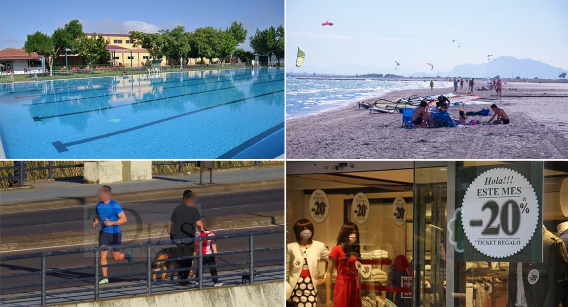 Flexibilización en horarios, aforo y apertura de playas y piscinas en la fase 2