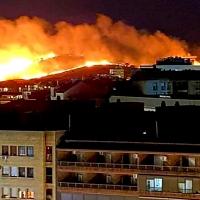 Un incendio calcina de madrugada el Cerro de los Pinos en Cáceres