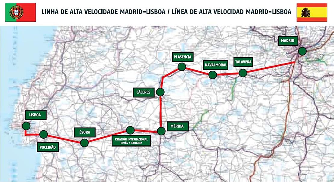 Cs arranca un compromiso de Europa: el AVE Madrid-Lisboa por Extremadura