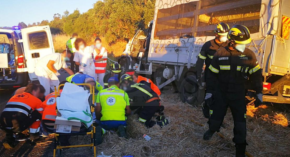Accidente de tráfico mortal en la carretera EX-111