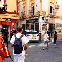 Incendio de vivienda en el centro de Badajoz