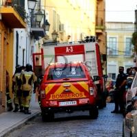 Se derrumba parte de una vivienda en el Casco Antiguo (Badajoz)