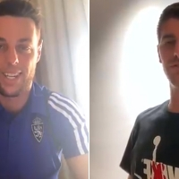 Thibaut Courtois y Burgui se acuerdan del CD. Badajoz horas antes del playoff de ascenso