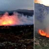 Los rayos provocan dos incendios en Ovejuela (Cáceres) y Arroyo (Badajoz)