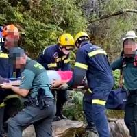 Complicado rescate de la Guardia Civil a una mujer en Sierra de Gata
