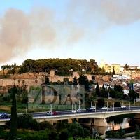 Un incendio obliga a cortar la Ronda Norte (Badajoz)
