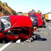 Cuatro heridos, entre ellos dos graves, en un accidente de tráfico en la A-5
