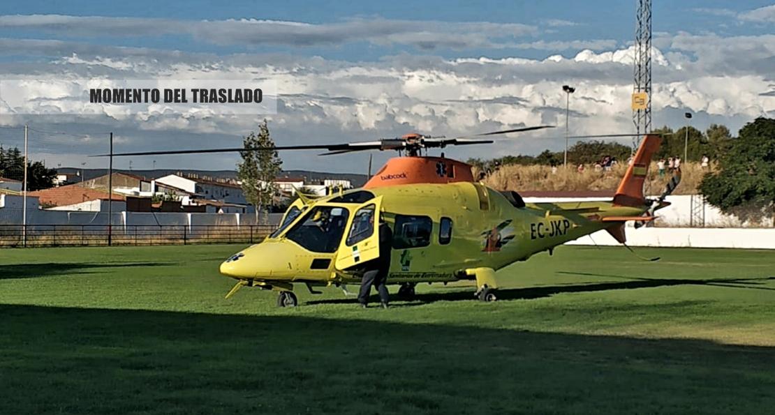 En la UCI e intubado el menor de 16 años herido en un accidente en la provincia de Badajoz
