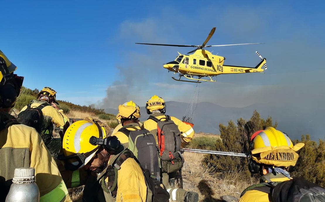 Evolución favorable de los incendios del Norte de Cáceres