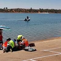Realizan un simulacro de Emergencias en el pantano de Orellana