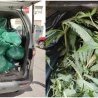 BADAJOZ - Al percatarse de la presencia policial se da a la fuga abandonando la droga en la furgoneta