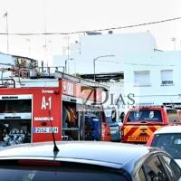 Incendio de vivienda en San Roque (Badajoz)