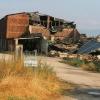 Varios edificios derribados por la tormenta en la provincia de Cáceres