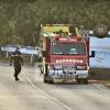 Accidente y vuelco cerca de Barcarrota (Badajoz)
