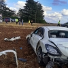 Accidente de tráfico en la carretera de Olivenza (Badajoz)