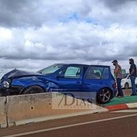 Se empotra contra una isleta en la carretera de Madrid