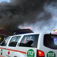 Incendio en Fregenal y un herido en accidente laboral
