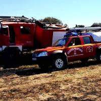 Un incendio calcina varias hectáreas cerca de San Vicente de Alcántara (Badajoz)